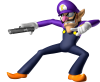 Waluigi_Artwork_-_Mario_Party_DS_doublegun.png
